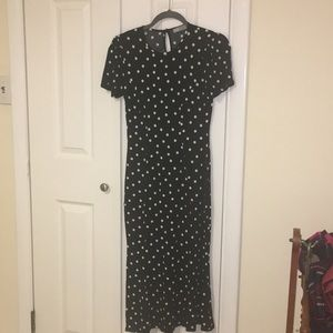 NWOT ASOS maxi tea dress in polka dot.